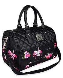 Liquorbrand Flamingos Retro Round Handbag