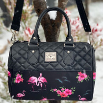 Liquorbrand Flamingos Retro Round Handbag - model