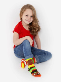 Burger and Fries Mismatched Socks - Pals Socks by Michelle Romo | kids size
