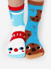 Milk and Cookies Mismatched Socks - Pals Socks by Michelle Romo