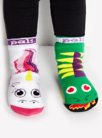 Unicorn and Dragon Mismatched Socks - Pals Socks  - toddler