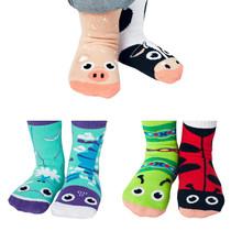 Pals Socks - Sunny Sidekicks | 3 Mismatched Socks Gift Set |  1-3 Yrs