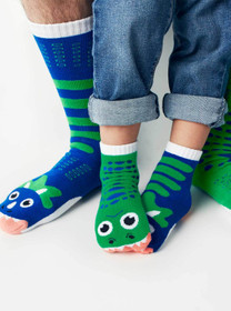 Toddler, Kids and Adult Dinosaur Mismatched Socks - T-Rex and Triceratops