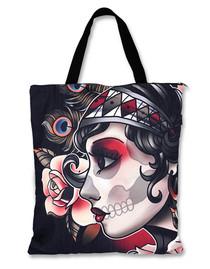 Liquorbrand Gypsy Roses Tote Skull Bag