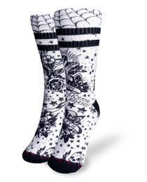 Liquorbrand Clothing Death or Glory Skater Calf Adult Socks