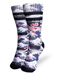 Liquorbrand Clothing Surfer Skeleton Skater Calf Adult Socks