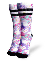 Liquorbrand Clothing Pegasus Unicorn Skater Calf Adult Socks
