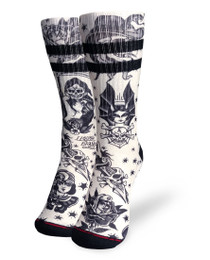 Liquorbrand Clothing Classic Tattoo Flash Skater Calf Adult Socks
