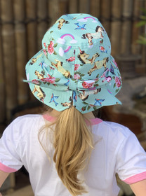 Six Bunnies Unicorn Wonderland Bucket Hat with Bow