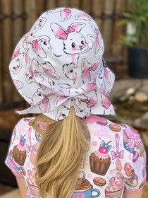 Six Bunnies 'Bunnies' Bucket Hat with Bow