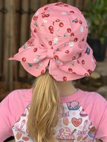 Six Bunnies Daisy Cherry Bucket Hat