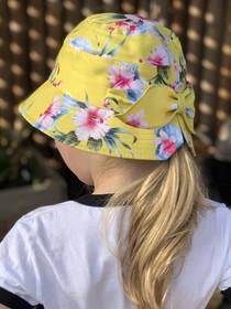 Six Bunnies Luau Yellow Bucket Hat