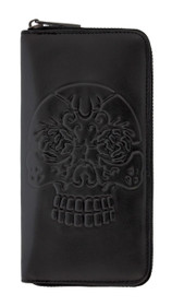 Banned Apparel Embossed Skull Wallet