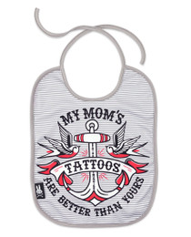 Six Bunnies My Mums Tattoos are better than yours Baby Gift Set - bib