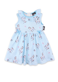 Six Bunnies Horses on Blue - Dress, Bloomers & Headband PREORDER