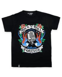 Six Bunnies Rock n Roll Forever Kids Tee Shirt