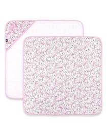 Six Bunnies Pink Bunny Wrap Blanket - PREORDER