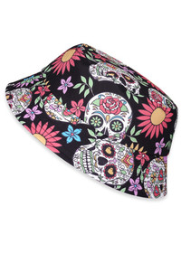 Six Bunnies Sugar Skulls Kids Bucket Hat