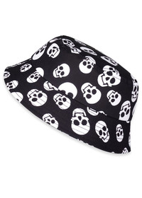 Six Bunnies Polka Skulls Kids Bucket Hat