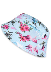 Six Bunnies Flamingos Kids Bucket Hat