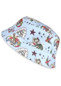 Six Bunnies Aloha Blue Kids Bucket Hat