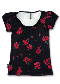 Liquorbrand Roses Vintage Bow Scoop Top