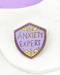 Jubly Umph Anxiety Expert Enamel Pin - model