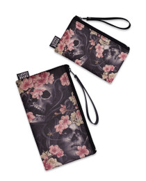 Liquorbrand Sakura Skull 2 Piece Wallet and Coin Pouches