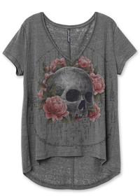 Liquorbrand Sak Yant Skull Relaxed Tee Shirt