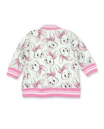 Six Bunnies Bunny Baby Varsity Bomber Jacket Back