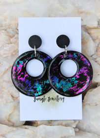 Unicorn Eclipse Hollow Drop Earrings