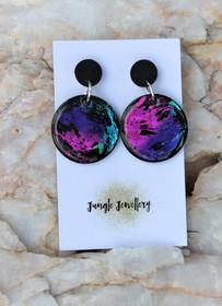 Unicorn Eclipse Round Drop Earrings