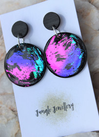 Unicorn EclipseRound Drop Hollow Earrings