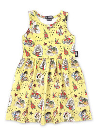 Six Bunnies Aloha Tattoo Kids Dresses