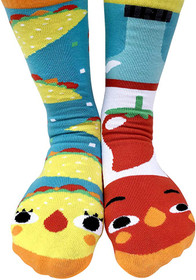 Pals Socks Taco and Hot Sauce Socks for Kids and Adults
