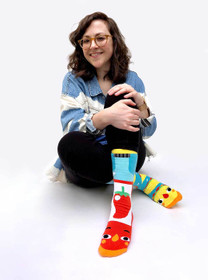 Pals Socks Taco and Hot Sauce Socks | Teen and Adult