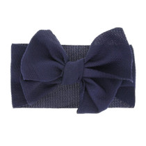 Stretchy Navy Blue Headwrap - Bullet Fabric