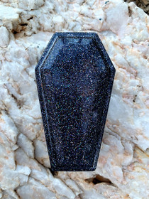 Handmade Resin Coffin Shaped Jewellery Trinket Box  - 2
