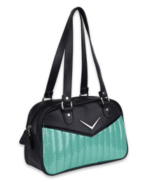 Liquorbrand Chevron Bowler Bag - Mint