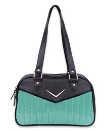 Liquorbrand Chevron Mint Bowler Bag