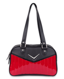 Liquorbrand Chevron Bowler Bag - Red