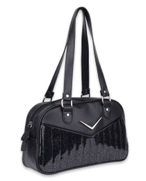 Liquorbrand Chevron Black Bowler Bag