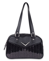 Liquorbrand Chevron Bowler Bag - Black