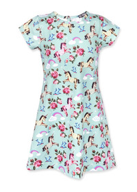 Six Bunnies Girls Unicorn Wonderland Party Dress