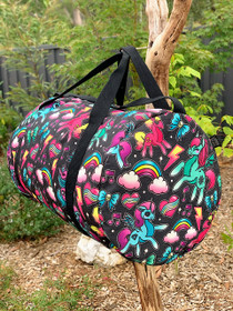 Liquorbrand Unicorn Duffle Bag - Black