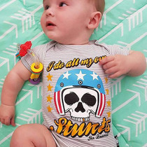 Six Bunnies I Do All my Own Stunts Baby Onesie - baby