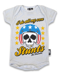 Six Bunnies I Do All my Own Stunts Baby Onesie