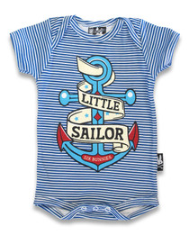 Six Bunnies Little Sailor Baby Onesie