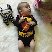 Six Bunnies Captain Awesome Baby Romper - model