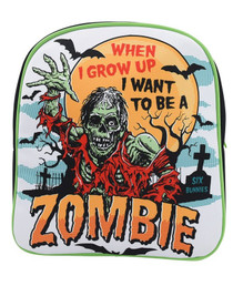 Six Bunnies Zombie Kids Backpack - close